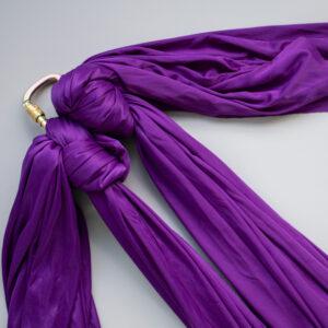 lilla aerial silk med karabiner