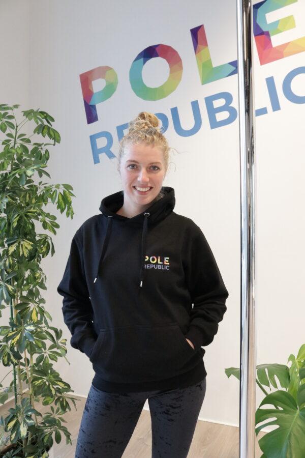 Pole Republic hoodie uden lynlås (front)