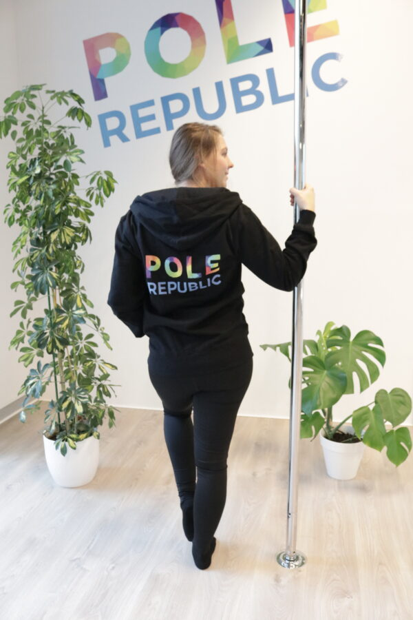 Pole Republic zipped hoodie (back)