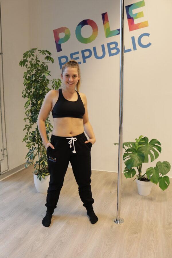Pole Republic sweatpants (front)